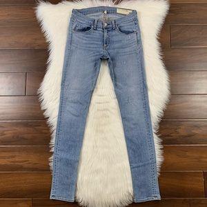Rag & Bone Harbour Distressed Skinny Denim Jeans